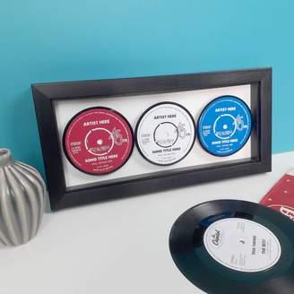 Vinyl Village Personalised Three Favourite Songs Framed