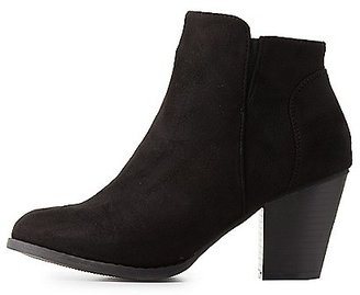 Chunky Heel Ankle Booties $35.99 thestylecure.com