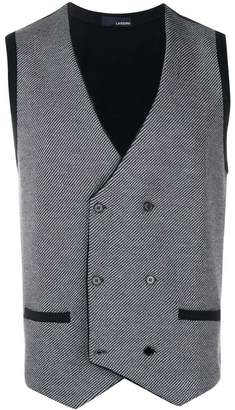 Lardini double-breasted fitted waistcoat