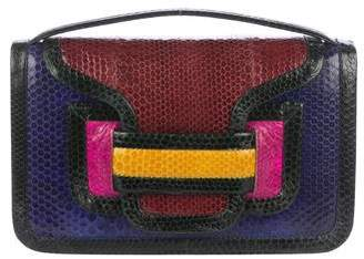 Pierre Hardy Embossed Leather Alpha Bag