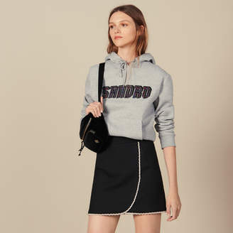 Sandro Short Skirt Embellished With Beads