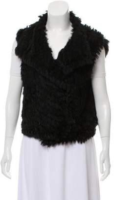 Marc by Marc Jacobs Knit Rabbit Fur Vest