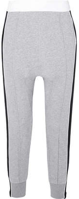 P.E Nation The Master Run Striped Cotton-terry Track Pants - Gray