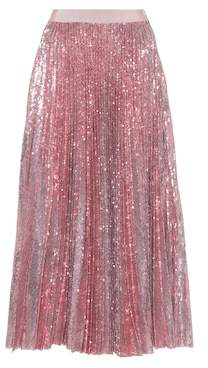 MSGM Pleated sequinned skirt