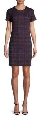 Calvin Klein Houndstooth Short-Sleeve Mini Dress