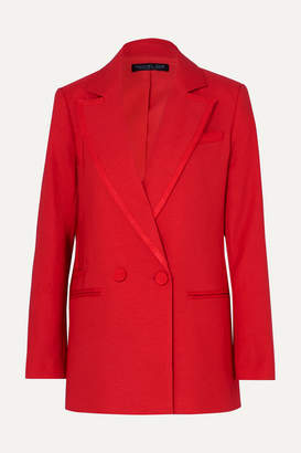 Rachel Zoe Giorgia Double-breasted Canvas Blazer - Red
