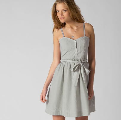 AE Button Bustier Dress