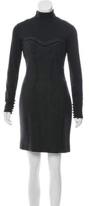 Antonio Berardi Virgin Wool-Blend Mini Dress