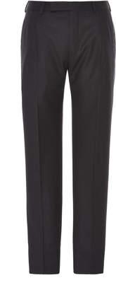 Ermenegildo Zegna Pleated Wool-Flannel Trousers
