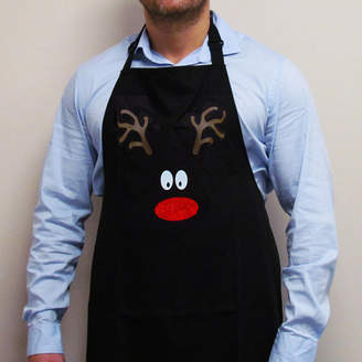 Perfect Personalised Gifts Reindeer Face Christmas Apron