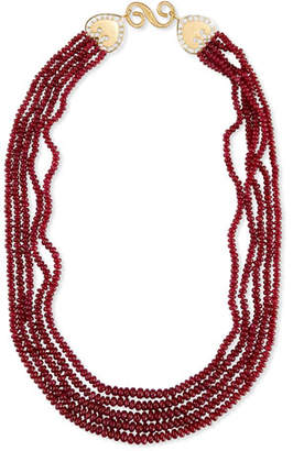 Splendid Company Five-Strand Smooth Ruby Necklace