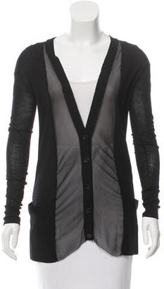 Vera Wang Silk-Accented Wool Cardigan $65 thestylecure.com