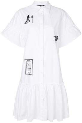 McQ embroidered tarot card shirt dress
