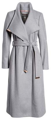 Ted Baker London Londer Midi Wool Wrap Coat