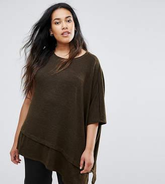 Elvi Green Asymmetric Sweater