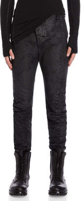 Masnada Black Coated Skinny Pants