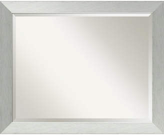 Amanti Art Brushed Sterling 32x26 Bathroom Mirror