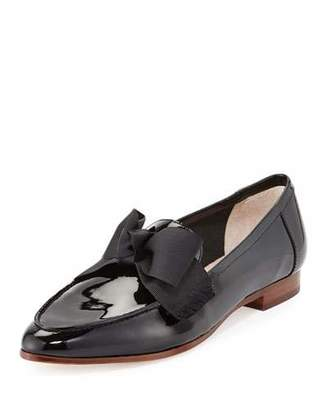 Kate Spade New York Cosetta Too Patent Bow Loafer Flat, Black $258 thestylecure.com