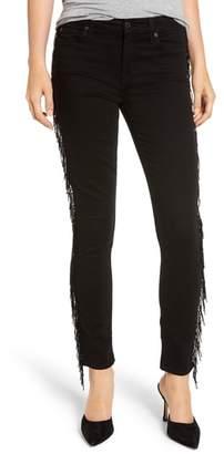 7 For All Mankind Beaded Fringe Ankle Skinny Jeans