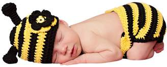 Bumble Bee Melondipity Baby Hats Melondipity Baby Hat & Diaper Cover Set fors - Yellow / Black