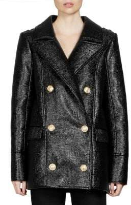 Balmain Caban Laquered Tweed Jacket