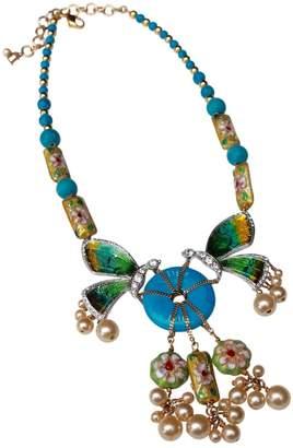 Christian Dior Vintage Blue Metal Necklace