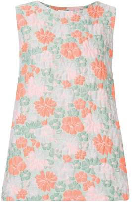 Jil Sander sleeveless floral print top