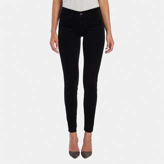 J Brand Super Skinny Velvet Jean in Black