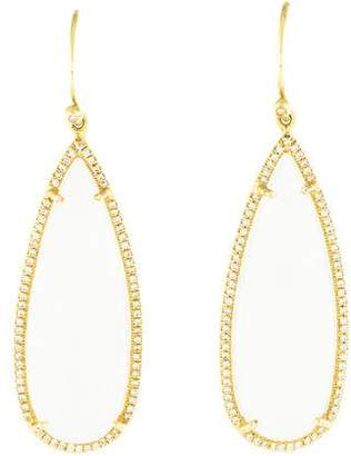 Irene Neuwirth 18K Moonstone & Diamond Drop Earrings