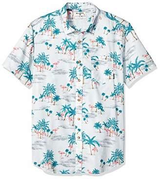Billabong Men's Sundays Floral Short Sleeve Woven Shirt,XL