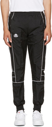 Kappa SSENSE Exclusive Black Windbreaker Track Pants $110 thestylecure.com