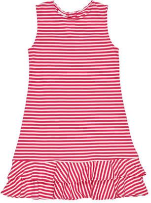 Florence Eiseman Stripe Knit Ruffle-Hem Dress, Size 7-14