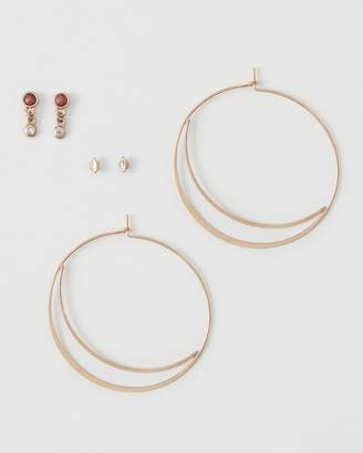 Abercrombie & Fitch Classic Gold Hoop Earring Pack