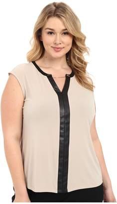 Calvin Klein Plus Plus Size Sleeveless V-Neck Chain Top Women's Sleeveless