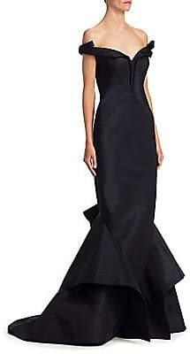 fdb09bd2778 Zac Posen Women s Silk Off-The-Shoulder Gown