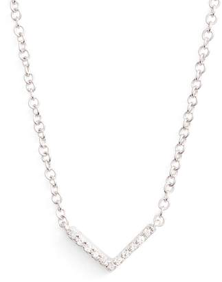 Ef Collection Mini Chevron Diamond Pendant Necklace