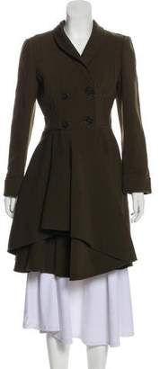 Alexander McQueen Virgin Wool Double-Breasted Coat w/ Tags