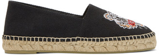 Kenzo Black Canvas Tiger Espadrilles $175 thestylecure.com