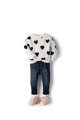 Country Road Heart Sweat Top