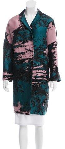 MSGM Brocade Patterned Coat