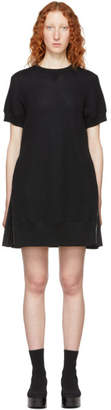 Sacai Black Short Sponge Sweat Dress