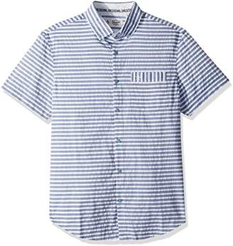 Original Penguin Men's Short Sleeve Digital Dobby Stripe