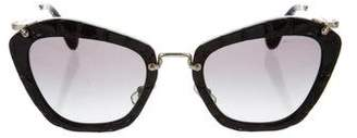 Miu Miu Texture Cat-Eye Sunglasses