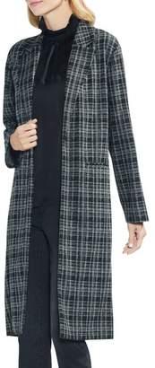 Vince Camuto Long Plaid Jacket