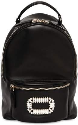 Roger Vivier Sexy Choc Embellished Leather Backpack