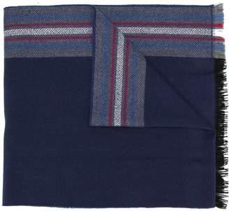 Hackett herringbone striped scarf