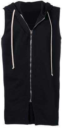 Rick Owens sleeveless hooded sweatshirt