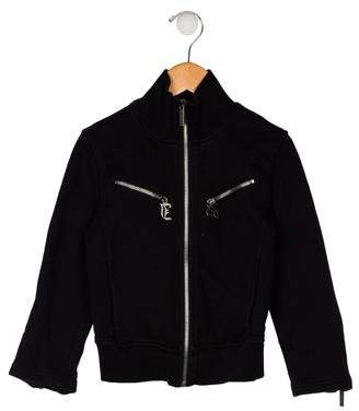 John Galliano Girls' Long Sleeve Zip-Up Jacket