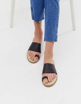 Asos Design DESIGN Jega toe post espadrille sandals