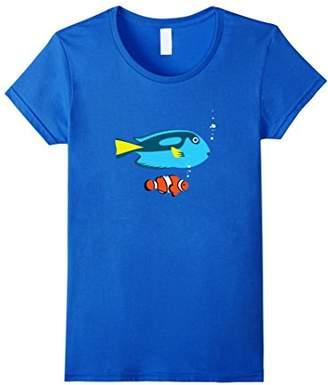 Tropical fish Surgeon and clown ocean t-shirt